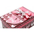 Коробка подарочная Сердце с бантом / прямоуг. мал.
