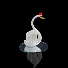 Сувенир Белый лебедь на зеркале 7,5*4см 639217