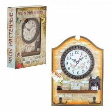 Часы настенные на кухню Домашний уют с крючками