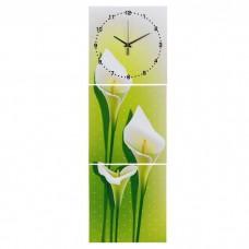 Часы настенные картина 3в1 Каллы 127113