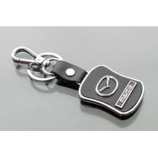 Брелок для ключей Mazda /кож. мет./