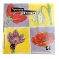 Салфетки бумажные Гармония цвета многоцветие ЛИЛИЯ 50 л   863442