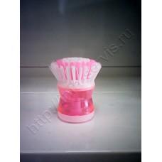 Щетка с дозатором для моющего средства, микс цвета 140277